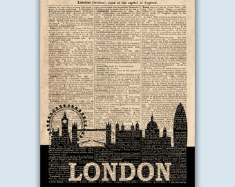 London Skyline Print, London Poster, London Decor, London Wall Art, London Art Print, London Wall Decor, London Home Decor, SKU L11