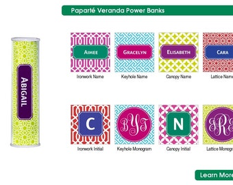 Custom Personalized Power Bank Phone Charger in Your Choice of Patterns!