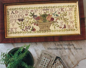BLACKBIRD DESIGNS Summer Harvest Loose Feathers series counted cross stitch patterns at thecottageneedle.com