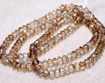 Celsian- faceted crystal beads
