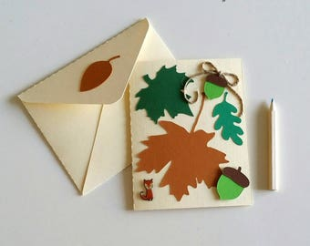 Decor autumn creating my little Stationery envelope with card