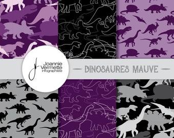 Purple dinosaur patterns