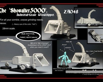28mm scale Woodchipper for Zombie Apocalypse campaign. Tabletop wargaming.