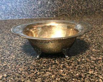 Vintage Silverplate Footed Bowl