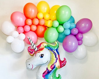 Unicorn Birthday, Unicorn Party, Unicorn Balloons, Unicorn Balloon Garland, Rainbow Balloons, Rainbow Balloon Garland, Rainbow Balloon Arch