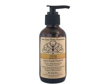 Citrus massage oil body oil relaxing bath oil natural skin care natural body oil massage oil shower oil bath oil natural massage oil