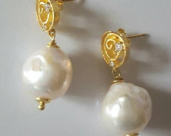 Baroque parls earrings