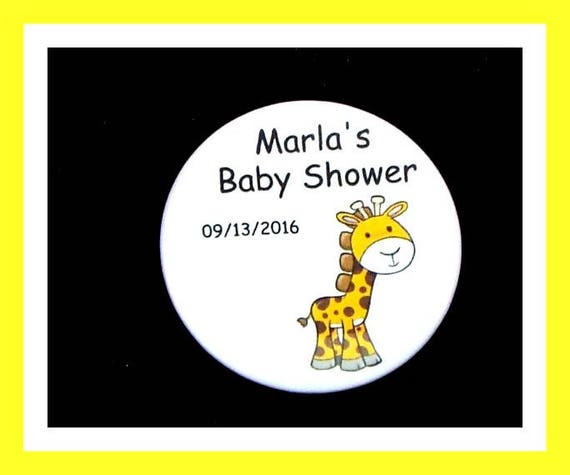 Baby Shower Giraffe Favor,Personalized Buttons,Favor Tag,Its a girl,Its a Boy,Party Favor,Birthday Party Favor,Personalized Favors,Set of 10