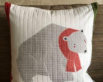 Christmas cushion polar bear