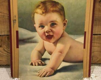 Vintage photo baby photo photography antique decor craft repurpose cottage art Scrapbooking retro Victorian salvaged