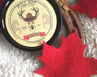 Mountie Handmade Beard Balm All Natural Beard Salve Wax Styling Conditioner Pomade 2oz