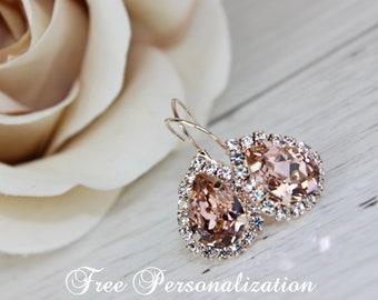 Rose gold earrings Etsy