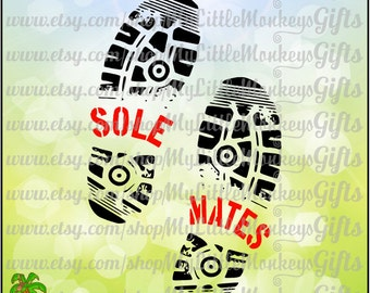 Running SVG ~ Sole Mates ~ Soul Mates ~ Cross Country ~ Hiking ~ Shoe Print SVG ~ Commercial Use SVG ~ Cut File ~ Clipart ~ svg-dxf-eps-png