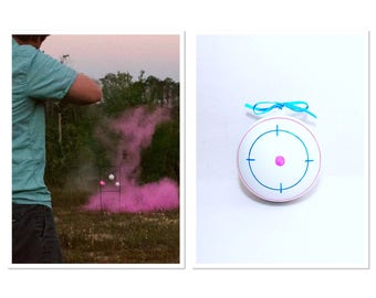 Shooting Target Gender Reveal Shooting Target Gender Reveal Ideas Gender Reveal Fast Shipping!
