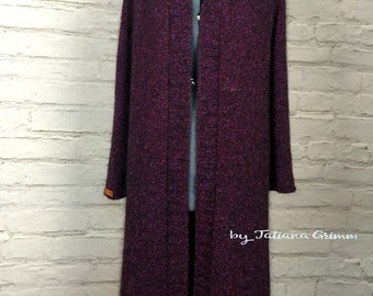 A woman's long cardigan. Hand made.