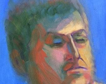 """Original Oil Painting 6 x 6"""" Kristoff in Soft Focus"""