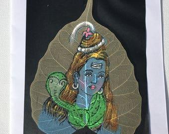 Shiva Leaf Painting