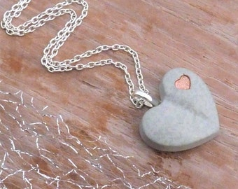 Necklace Concrete Heart & heart-choice-gift-