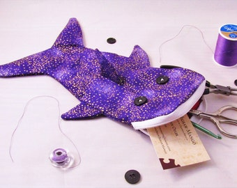 Shark Bag- Purple with Gold Speckles