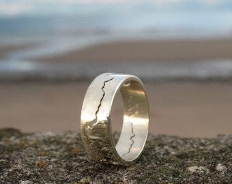 Unusual wedding ring etsy 9ct white gold coastline ring personalised map ring map jewellery unusual wedding ring white gold wedding ring landscape ring junglespirit Choice Image