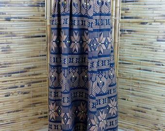 Vintage 1960s/1970s Woven Guatemalan Maxi Skirt - Extra Small