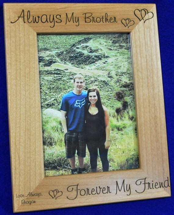 Gift For Brother Picture Frame Birthday Gift For Brother