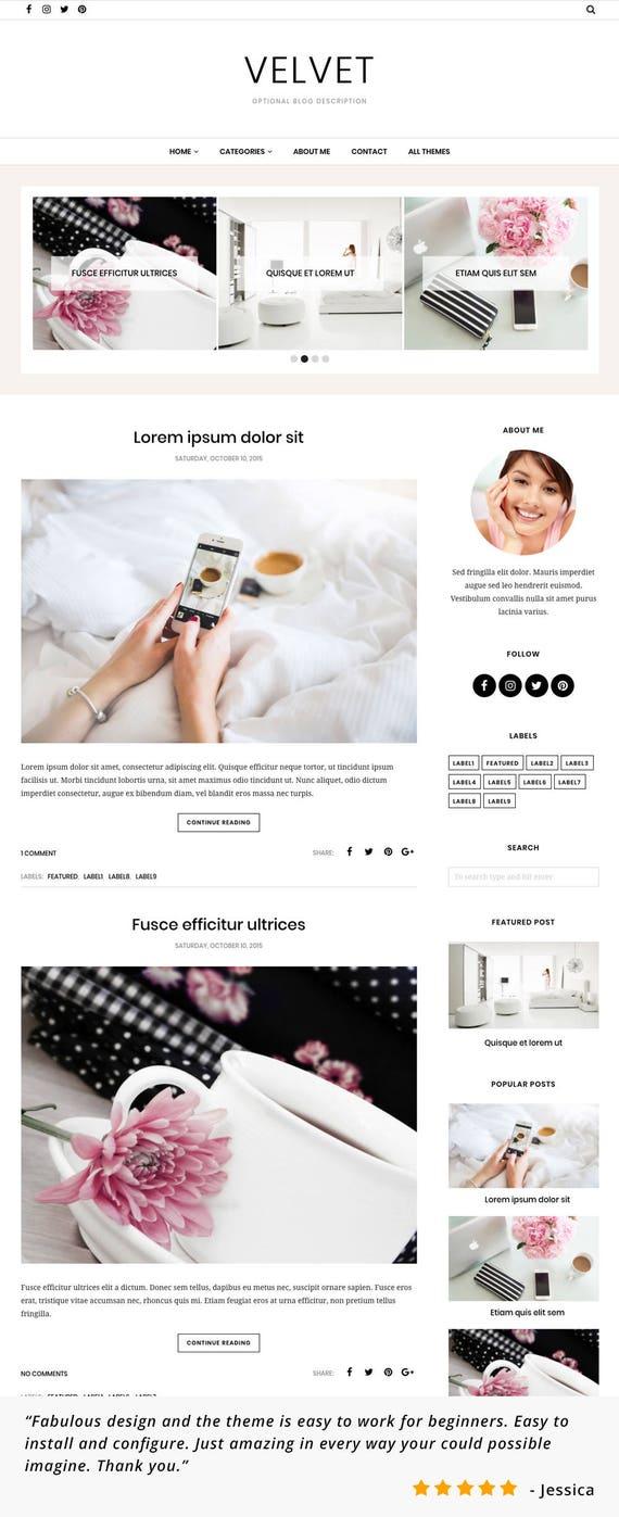 Atemberaubend Blogger Responsive Vorlagen Galerie ...