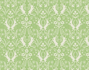 Spring Hare Green- Lewis & Irene  Quilting Cotton
