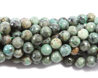African Turquoise Jasper Faceted Gemstone Beads