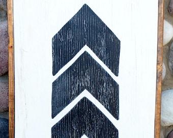 Chevron Arrow - Farmhouse Sign
