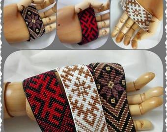 handmade, loom beaded bracelet.