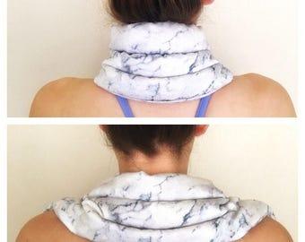 Neck heat pack. Infinity Heat Packs, neck pain relief.