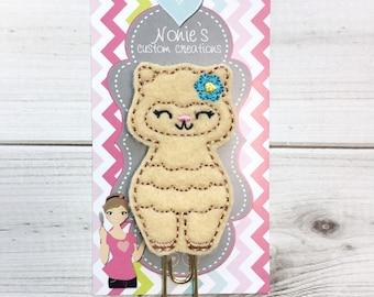 Llama Paper Clip - Llama Paperclip - Llama Feltie- Planner Paperclips - Planner Accessory - Llama Clip - Alpaca Clip