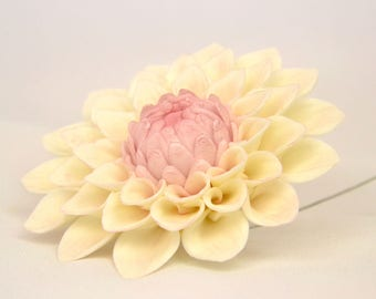 "Dahlia, size 4"", sugarpaste, handmade, cake topper, wedding cake, edible …"
