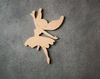 Fairy wooden MDF holder to decorate, personalize: 16,5 x w 10 cm