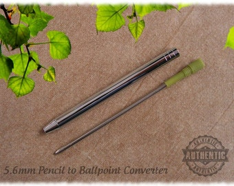 Pencil to Ballpoint Converter for 5.6mm Artist Sketch Clutch Pencils - Mini D1 Refill