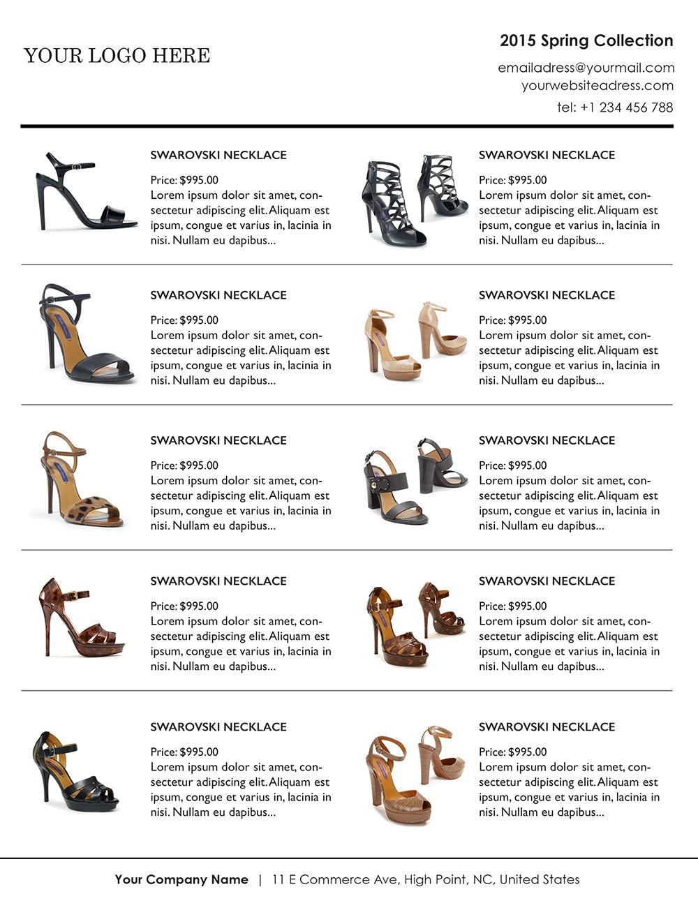 Vertical Line Sheet Wholesale Catalog template mini product