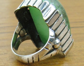 Vintage Aventurine Sterling Ring Silver 925 jewelry 12.5 grams size 7