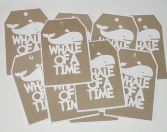 Gift Tags-Thank You Tags-Whale Tags-Nautical Tags-Wedding Tags-Baby Shower Tags-Nautical Wedding Tags-Party Favor Tags-Whales-Paper Tags