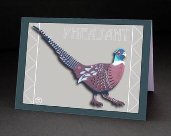 "Pheasant 4.25"" x 6"" Blank Greeting Card"