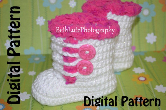 3-6 months Crochet Pattern, Crochet Baby Boots, Booties Pattern ...