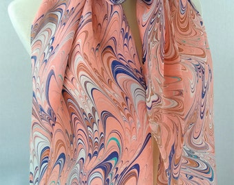 SALE XL Silk Scarf Handpainted