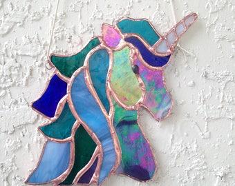 Unicorn Stained Glass Suncatcher