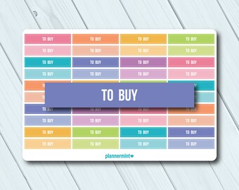 To Buy Header Planner Stickers - Erin Condren Life Planner - Happy Planner - Reminder - Important - Organization - Matte or Glossy