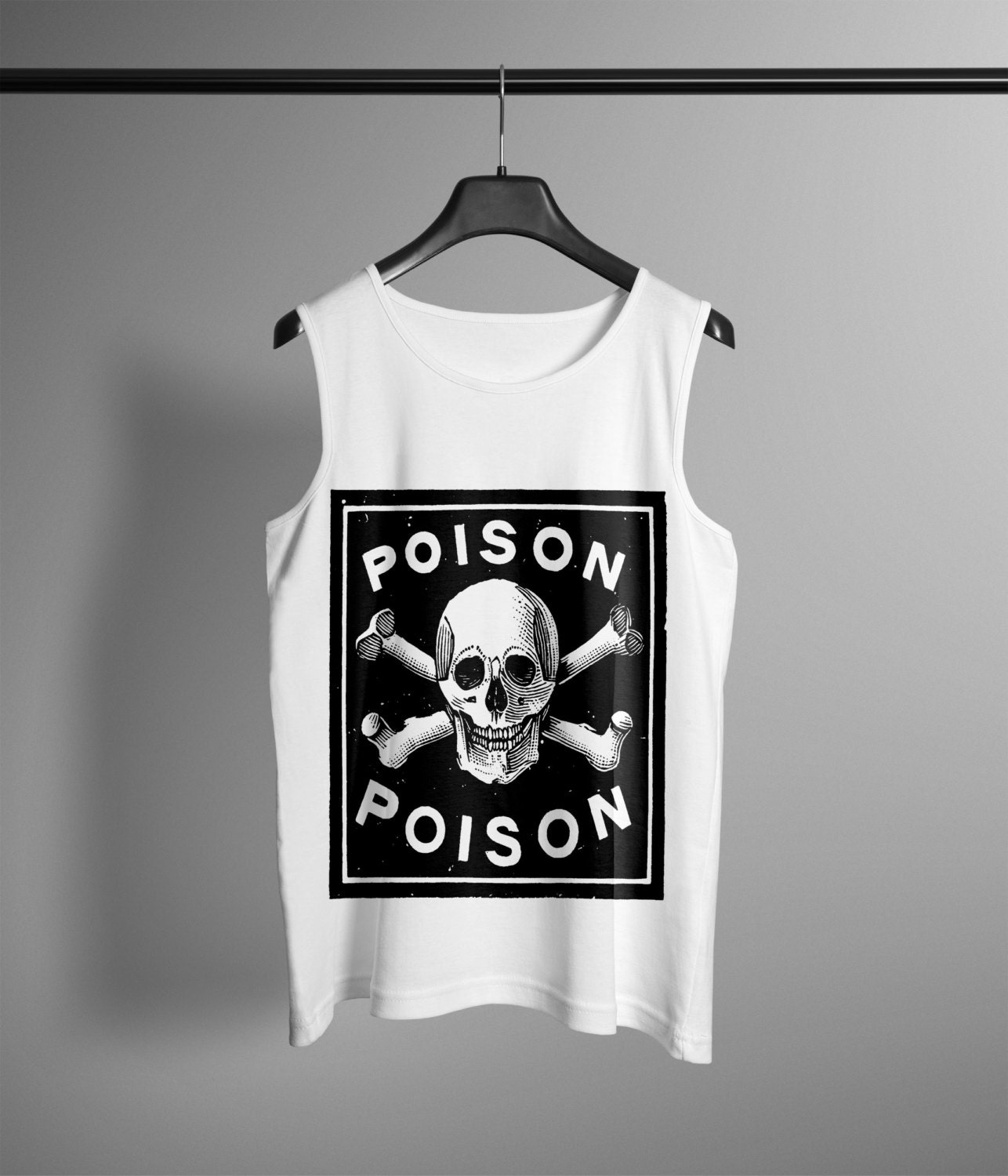 Mens Poison Label Tank Top - Occult Tank - Occult Print Graphic Tank - Graphic Tee - Graphic Tank Top - Occult Shirt l6sdgc