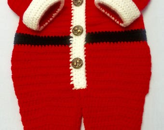 Red Crocheted Santa Suits