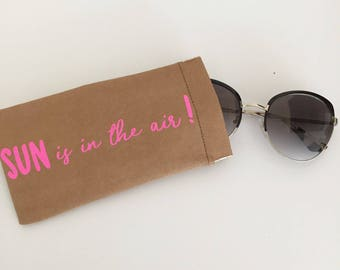 """Customizable glasses case. """"Sun is the air"""""""