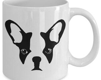 French bulldog mug - dog stencil - perfect gift for frenchie mom - coffee tea cup