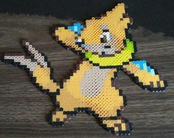 Pokemon Buizel Perler Bead Pixel Art
