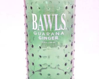 YAVA Glass - Recycled Bawls Guarana Ginger Ale Bottle Glass